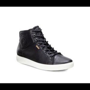 Ecco Leather High Top Sneakers